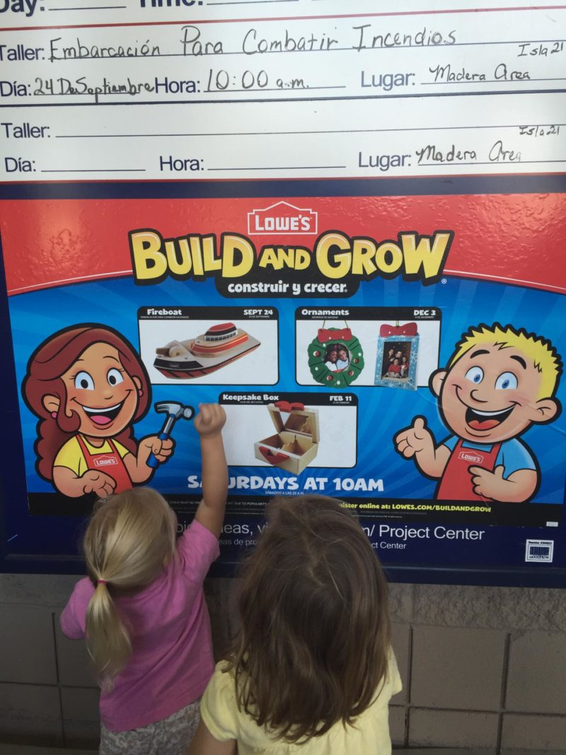 Banner stating classes with pics of projects