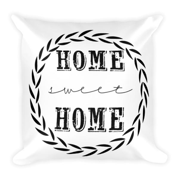 square pillow line drawing. home sweet home-square pillow square line drawing u