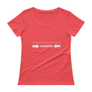 #SpoonieStrong-Ladies' Scoopneck T-Shirt
